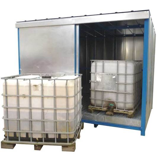 Picture of IBC Storage Unit with Deep Sump Base